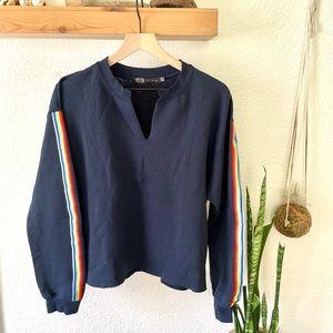 JET John Eshaya rainbow stripe sweatshirt